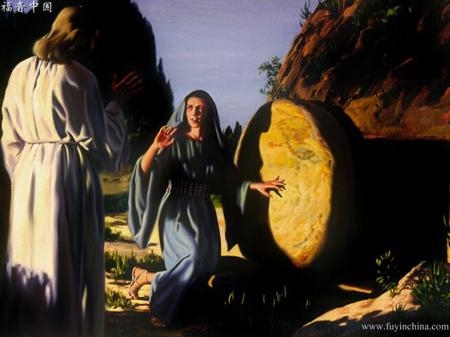 神的羔羊在十字架上流血,爱慕祂的人在